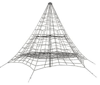 FLFJ307 5,5 m kötélpiramis