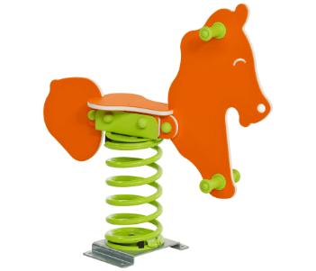 FLFJ507 játszótéri rugós ló narancs