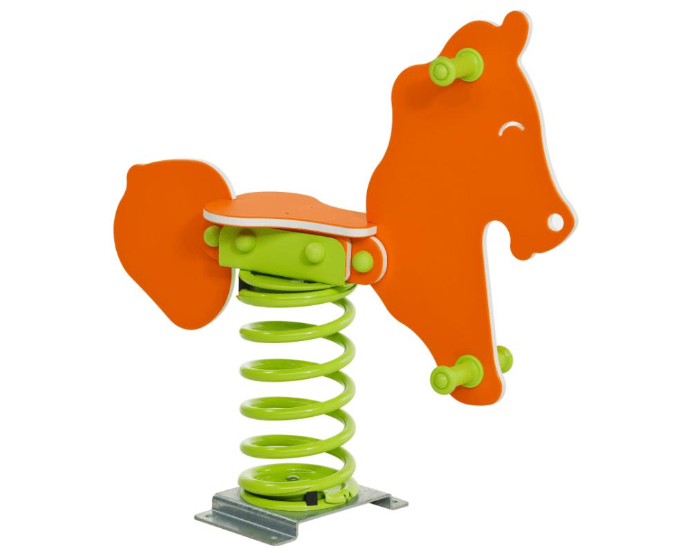 játszótéri rugós ló narancs