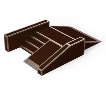 gördeszkapálya lépcsős piramis
