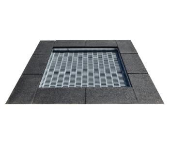 négyzet alakú trambulin XS